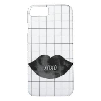 Capa iPhone 8/ 7 Caso preto elegante épico do telefone do