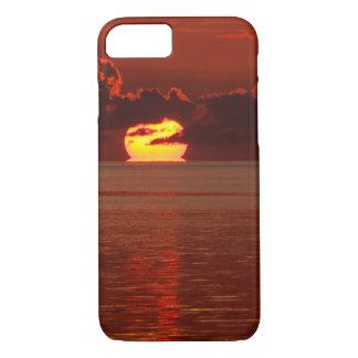 Capa iPhone 8/ 7 caso protetor do iPhone 7 - por do sol de