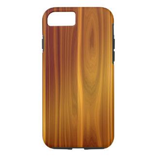 Capa iPhone 8/ 7 Caso resistente de madeira do iPhone X/8/7 da teca