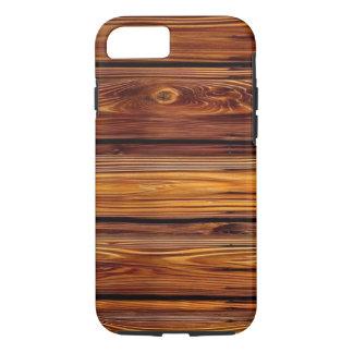 Capa iPhone 8/ 7 Caso resistente de madeira do iPhone X/8/7 do