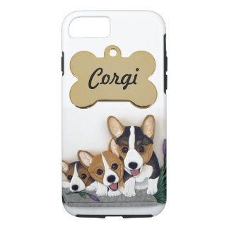 Capa iPhone 8/ 7 Caso resistente do iPhone 7 do Casemate do Corgi
