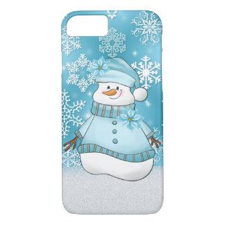 Capa iPhone 8/ 7 Caso sete do feriado oito da mulher da neve do