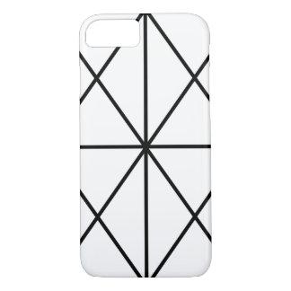 Capa iPhone 8/ 7 Caso Simples-Alinhado/preto & branco