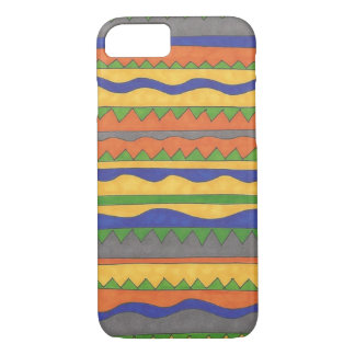 Capa iPhone 8/ 7 Caso tribal corajoso do teste padrão iPhone7