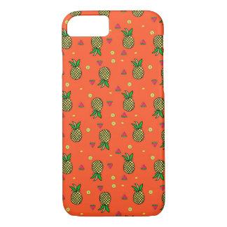 Capa iPhone 8/ 7 Caso tropical do iPhone 7 da melancia & do abacaxi
