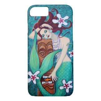 Capa iPhone 8/ 7 Caso tropical do iPhone 7 da sereia de Tiki