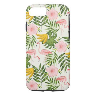 Capa iPhone 8/ 7 Caso tropical do iPhone 7 do flamingo do verão