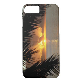 Capa iPhone 8/ 7 Caso tropical do por do sol do iPhone 7 de Apple