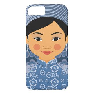 Capa iPhone 8/ 7 Caso vietnamiano de Matryoshka da água