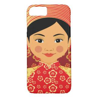 Capa iPhone 8/ 7 Caso vietnamiano de Matryoshka do fogo
