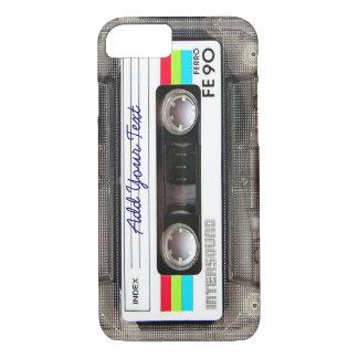 Capa iPhone 8/ 7 Cassete de banda magnética retro engraçada de