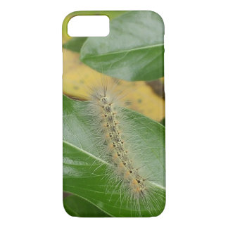 Capa iPhone 8/ 7 Caterpillar bonito na folha verde