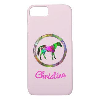 Capa iPhone 8/ 7 Cavalo colorido