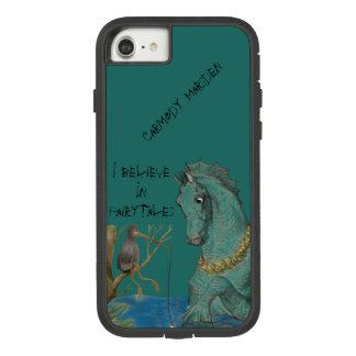 Capa iPhone 8/ 7 Cavalo de mar e pássaro da pesca