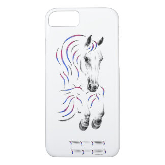 Capa iPhone 8/ 7 Cavalo de salto à moda da ligação em ponte