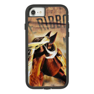 Capa iPhone 8/ 7 cavalo equestre da madeira do celeiro do país