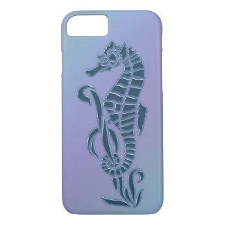 Capa iPhone 8/ 7 Cavalo marinho azul