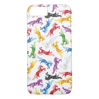 Capa iPhone 8/ 7 Cavalos de salto coloridos do teste padrão