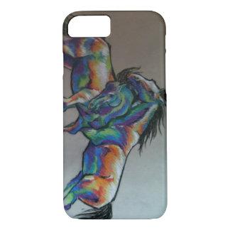 Capa iPhone 8/ 7 Cavalos do arco-íris