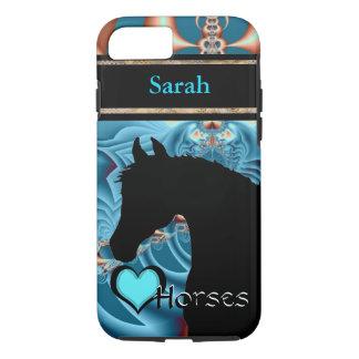 Capa iPhone 8/ 7 Cavalos do coração III customizável (Dreamz 4)