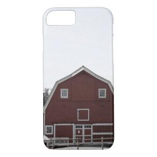 Capa iPhone 8/ 7 Celeiro rural rústico do vermelho da casa da