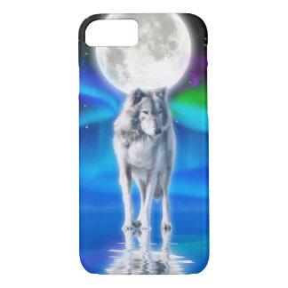 Capa iPhone 8/ 7 Cena ártica dos animais selvagens do lobo branco &