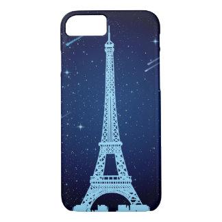 Capa iPhone 8/ 7 Cena da noite da torre Eiffel