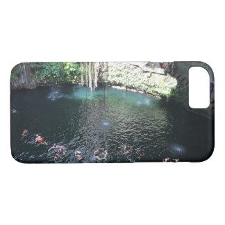 Capa iPhone 8/ 7 Cenote azul sagrado, caso do iPhone 7 de México #4