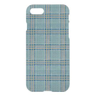 Capa iPhone 8/7 Cerceta da xadrez azul e amarela