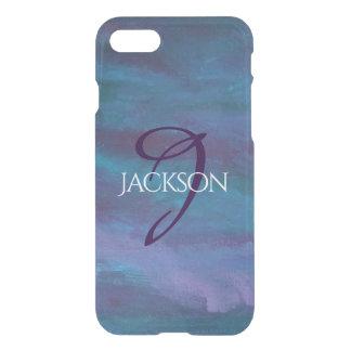 Capa iPhone 8/7 Cerceta roxa azul escuro feita sob encomenda