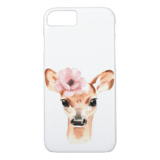 Capa iPhone 8/ 7 Cervos da gama com flor