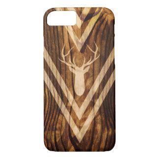 Capa iPhone 8/ 7 Cervos de Boho na madeira rústica