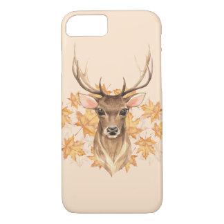 Capa iPhone 8/ 7 Cervos nobres. Outono