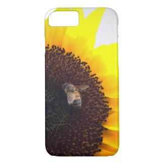 Capa iPhone 8/ 7 Chamadas da abelha do girassol