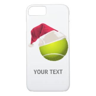 Capa iPhone 8/ 7 Chapéu do papai noel da bola de tênis do Natal