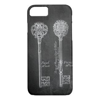 Capa iPhone 8/ 7 chaves de esqueleto do steampunk do Victorian do