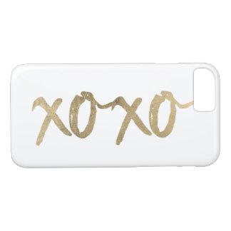 Capa iPhone 8/ 7 Chique da forma de Brushstoke do ouro de XOXO