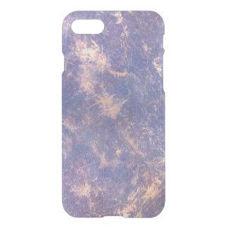 Capa iPhone 8/7 Chique roxo à moda impaciente do Splatter do ouro