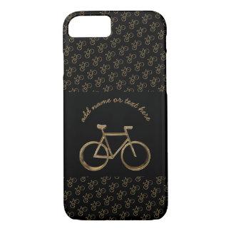 Capa iPhone 8/ 7 Ciclismo preto elegante do teste padrão da