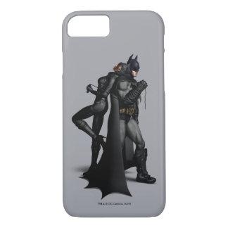 Capa iPhone 8/ 7 Cidade | Batman de Batman Arkham e mulher-gato