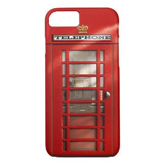 Capa iPhone 8/ 7 Cidade britânica do iPhone vermelho 8 da cabine de