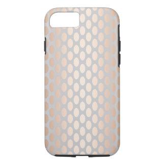 Capa iPhone 8/ 7 Cinza cor-de-rosa do teste padrão de bolinhas do