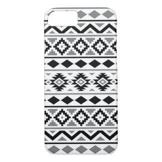 Capa iPhone 8/ 7 Cinzas brancas pretas do teste padrão III asteca