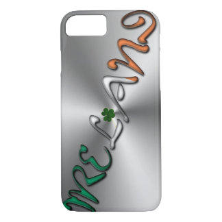 Capa iPhone 8/ 7 Cinzas de prata da tipografia irlandesa de Ireland