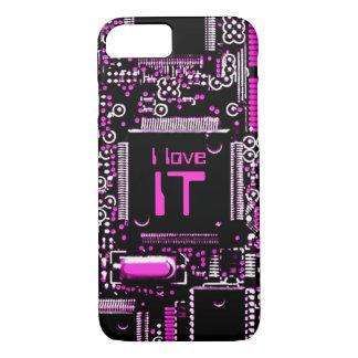 "Capa iPhone 8/ 7 Circuite cor-de-rosa ""mim amam-no"" caso do iPhone"