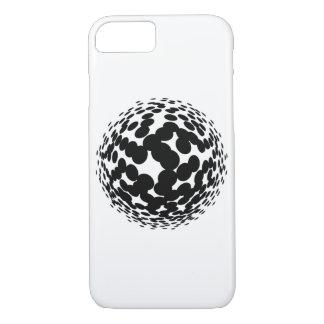 Capa iPhone 8/ 7 Círculos de intervalo mínimo pretos no fundo