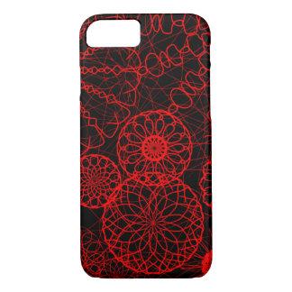 Capa iPhone 8/ 7 círculos vermelhos