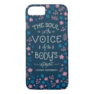 Capa iPhone 8/ 7 Citações de George Santayana - a alma é a voz