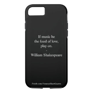 Capa iPhone 8/ 7 Citações de William Shakespeare - amor