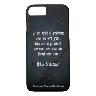 Capa iPhone 8/ 7 Citações de William Shakespeare - grandeza